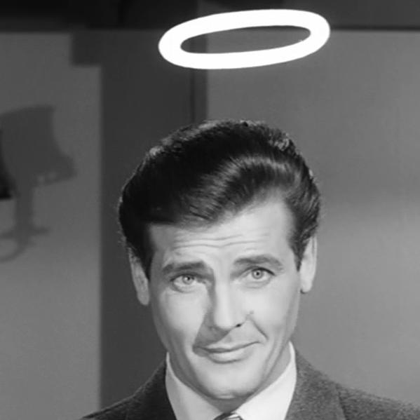 Roger Moore as Simon Templar was The Saint.