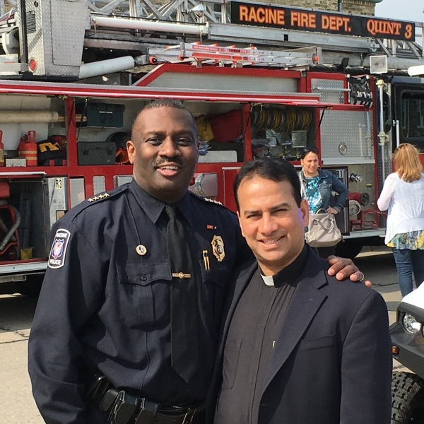 Fr. Steve and Police Chief Art Howell