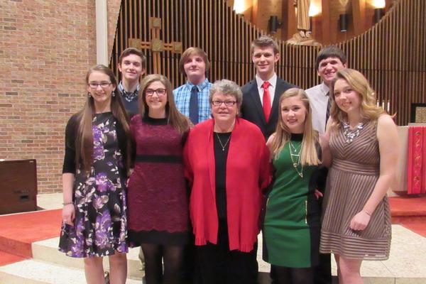 2016 Confirmants with Susan Gehrig, Director of Religious Education/Youth Ministry